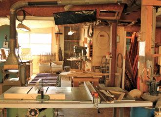 Atelier roulotte en bois